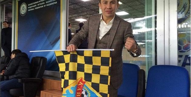 Геннадий Головкин посетил финал Кубка Казахстана по футболу