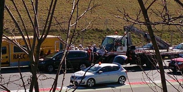 Фернандо Алонсо попал в больницу после аварии на тестах в Барселоне