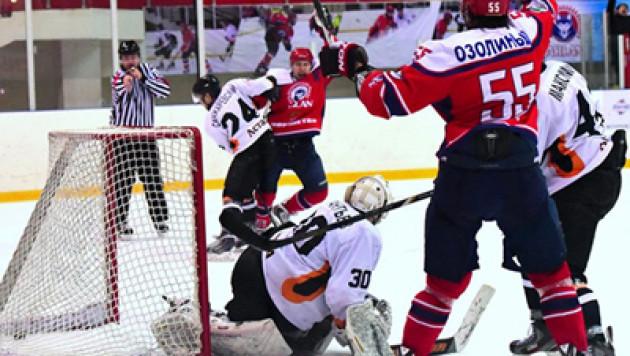 Определились полуфинальные пары плей-офф чемпионата Казахстана по хоккею