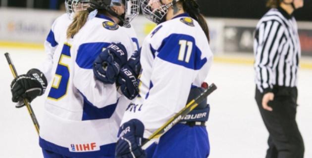 Казахстанские хоккеистки одержали третью победу подряд на ЧМ-2015