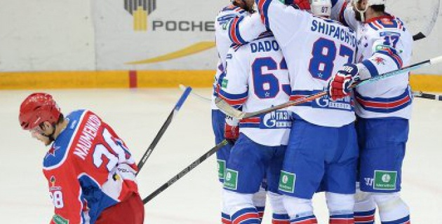 СКА сократил до минимума отставание от ЦСКА в полуфинальной серии плей-офф КХЛ