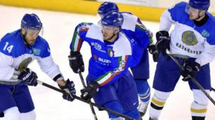 Казахстанские хоккеисты во второй раз обыграли Италию перед ЧМ