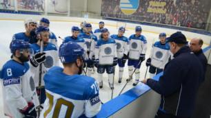 Сборная Казахстана отправилась в Краков на ЧМ по хоккею