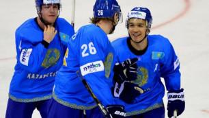 Сборная Казахстана одержала третью победу подряд на ЧМ по хоккею