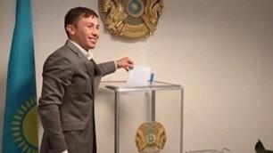 Геннадий Головкин в Нью-Йорке принял участие в выборах Президента Казахстана