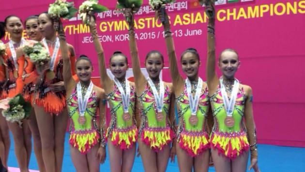 Казахстанские гимнастки стали бронзовыми призерами чемпионата Азии