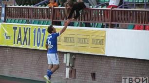 Белорусский футболист сделал предложение девушке после забитого мяча