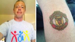 """Фанат """"Манчестер Сити"""" сделал тату с эмблемой """"МЮ"""" ради спасения смертельно больного сына"""