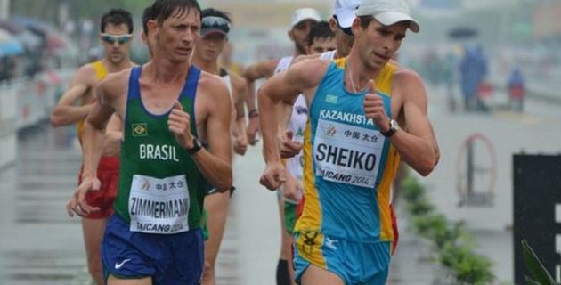 Казахстанец Шейко стал 31-м в ходьбе на 20 километров на ЧМ в Пекине