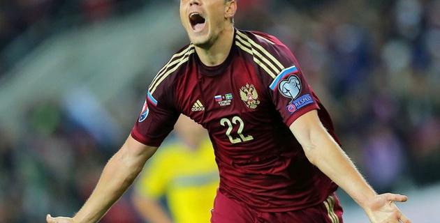 Гол Дзюбы принес сборной России победу над Швецией в матче отбора на Евро-2016