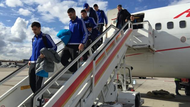 """Футболисты """"Астаны"""" прибыли в Мадрид"""