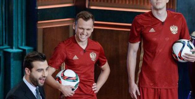 Дзюба и Черышев представили новую форму сборной России на Евро-2016