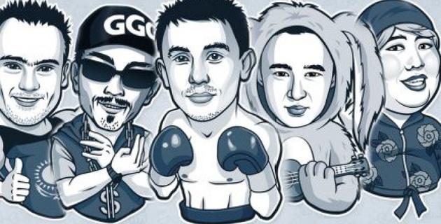 Стикеры с изображением казахстанских звезд спорта появились в мессенджере Telegram