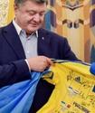 Тимощук в составе сборной Украины встретился с Порошенко