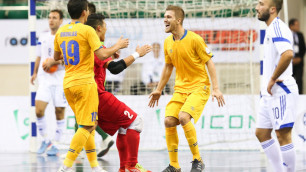 Сборная Казахстана по футзалу с первого места в группе вышла в плей-офф отбора на ЧМ-2016