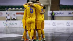 Сборная Казахстана по футзалу обыграла Узбекистан в товарищеском матче