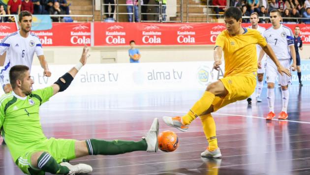 Серик Жаманкулов стал автором первого гола на Евро в истории сборной Казахстана
