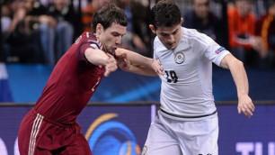 Сборная Казахстана по футзалу дебютировала на Евро с поражения от России