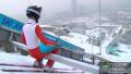Как выглядит прыжок с алматинского трамплина глазами летающего лыжника