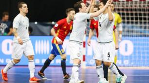 Сборная Казахстана по футзалу в полуфинале Евро проиграла Испании