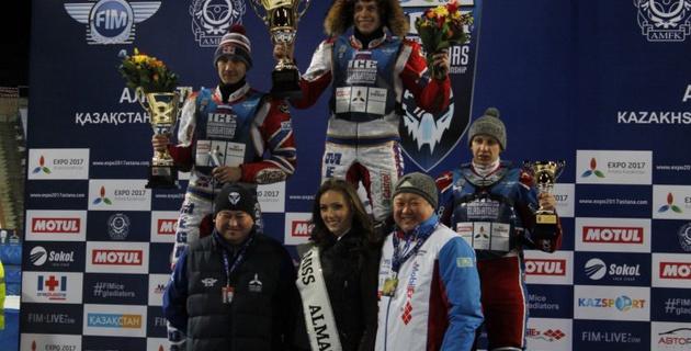 Российские гонщики заняли весь пьедестал в первый день второго этапа ЧМ по спидвею в Алматы