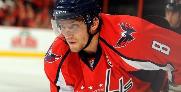 Овечкин стал десятым хоккеистом в истории НХЛ, кто в восьмой раз за карьеру забросил 40 шайб
