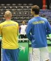Сборная Казахстана по теннису провела первую тренировку в Сербии перед Кубком Дэвиса