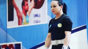 Штангистка Маргарита Елисеева поздравила женщин с наступающим 8 марта на казахском языке