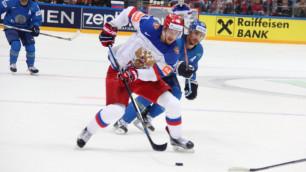 Сборная Казахстана уступила России со счетом 4:6 на чемпионате мира по хоккею