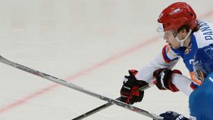 Хоккеист сборной России Панарин получил травму в матче с Казахстаном