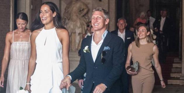 Бастиан Швайнштайгер и Ана Иванович поженились в Венеции