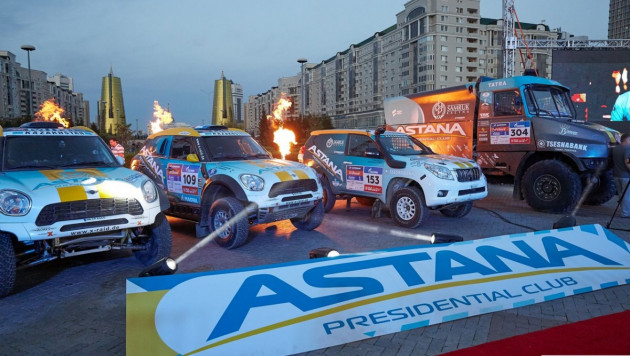 """Экипажи Astana Motorsports улучшили свои позиции на ралли """"Шелковый путь"""" по итогам этапа Костанай - Астана"""