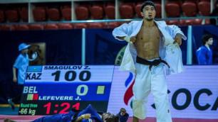 Казахстанский дзюдоист Смагулов стартовал с победы на Олимпиаде в Рио