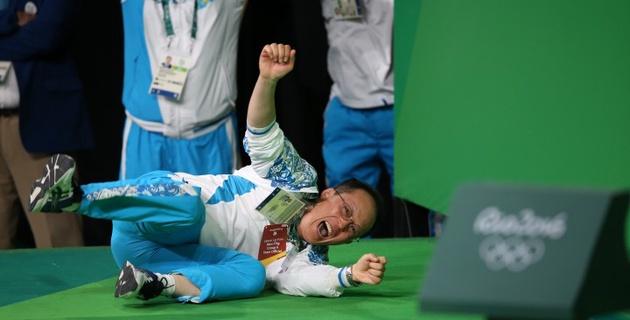 Танцы Алексея Ни и Нижата Рахимова после победы на Олимпиаде в Рио