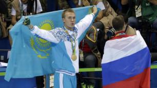 Видео с церемонии награждения олимпийского чемпиона Дмитрия Баландина в Рио-2016