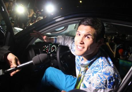 Данияр Елеусинов в новом авто. Фото Тengrinews.kz, Шокан Алхабаев©