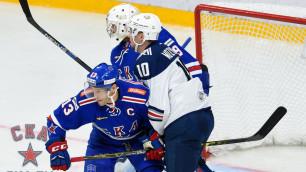 КХЛ оштрафовала Дацюка за удар Мозякину клюшкой между ног