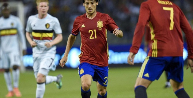 Футболисты сборной Испании переиграли Бельгию в товарищеском матче