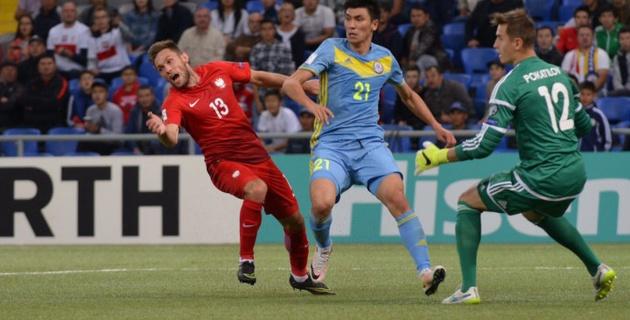 Сборная Казахстана отыгралась с 0:2 в матче с Польшей на старте квалификации ЧМ-2018