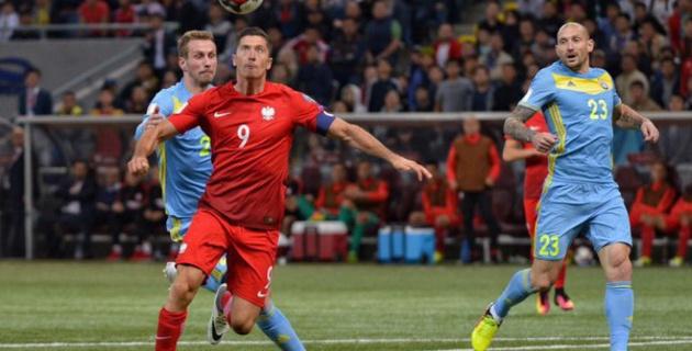 Видео полного матча квалификации ЧМ-2018 Казахстан - Польша