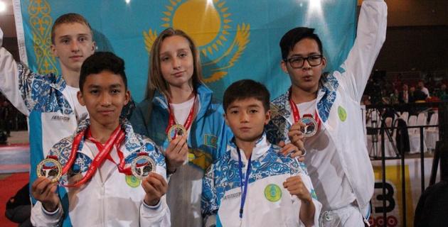 Сборная Казахстана завоевала шесть золотых медалей на чемпионате мира по каратэ-до шотокан