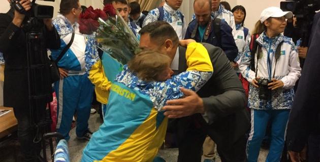 Казахстанские спортсмены вернулись с Паралимпийских игр в Рио