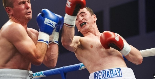 Казахстанец Берикбай Нуримбетов одержал победу в бою открытия вечера бокса в Алматы