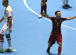 Россия победила Испанию и вышла в полуфинал чемпионата мира по футзалу в Колумбии