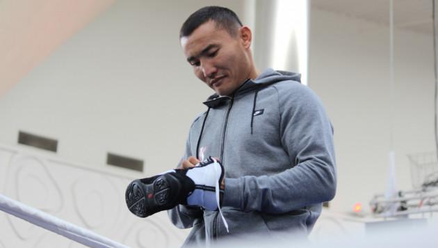 Фоторепортаж: Канат Ислам провел открытую тренировку в Алматы