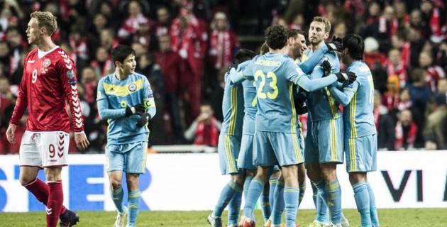 Зарубежные СМИ восхитились голом казахстанского футболиста Суюмбаева в ворота сборной Дании