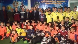 Сеильда Байшаков посетил юных футболистов в селе Панфилов