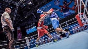 Казахстанский боксер нокаутировал соперника на второй минуте боя на ЧМ в Санкт-Петербурге
