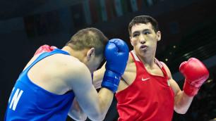 Жанибек Алимханулы трижды отправил соперника в нокдаун и вышел в полуфинал чемпионата Казахстана