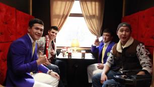 Звезды казахстанского спорта приняли участие в съемках новогодней музыкальной комедии